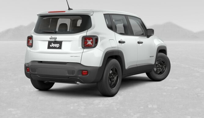 2017 Jeep Renegade White Rear Exterior