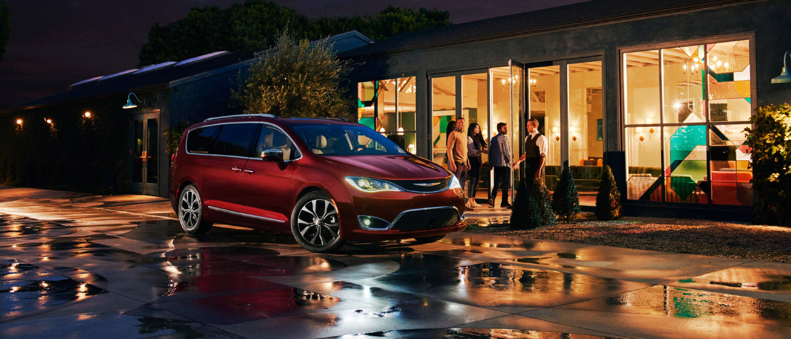 2017 Red Pacifica Exterior Friends